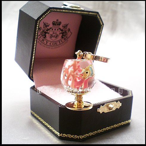 Rare Authentic Juicy Couture Fish Bowl Coral Reef Charm NIB