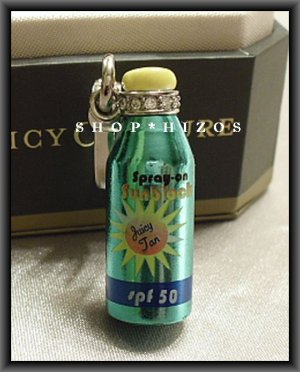 Juicy Couture Sun Block Tan Bottle Charm NIB