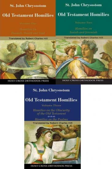 Old Testament Homilies (3 Volumes) - John Chrysostom