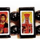 Serbian Orthodox Icon Bracelet (Hematite)