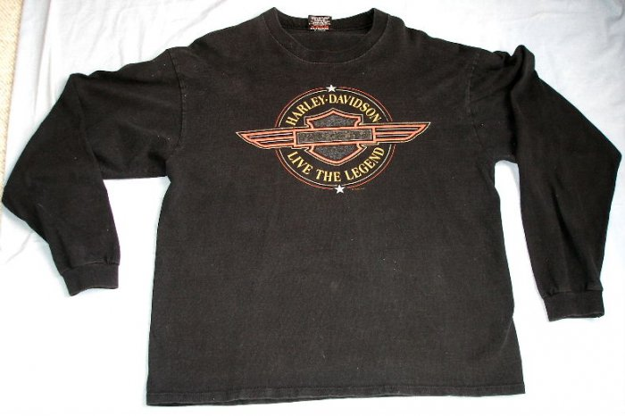 HARLEY DAVIDSON Motorcycles long sleeve t-shirt LG $$ FREE US SHIPPING$$