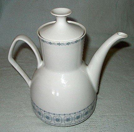 JOHANN FELTMANN Bavaria porcelain teapot blue/gray MINT $1 SHIPPING