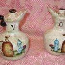 Vintage ceramic vinegar oil cruet set marked MINT