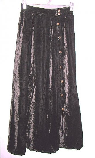 DAVID DART for FORCE ONE black velvet career skirt size small