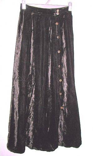 DAVID DART for FORCE ONE black velvet career skirt size small
