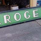 1920s KROGER porcelain store front signs