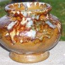 McCoy mission style  drip glaze  vase