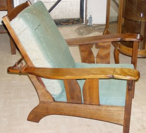 John Dunn signed mission arts&crafts morris chair