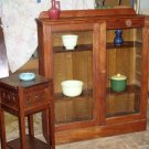 Mission arts&crafts 2 door oak china cabinet