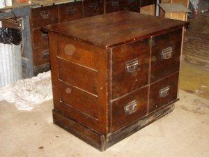 1920s Sherer counrty store oak cabinet