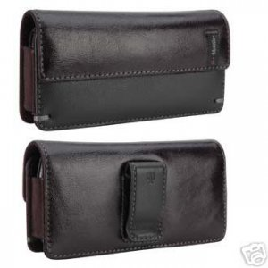 NEW Leather Phone Pouch Case For HTC EVO 4G and EVO 3D Sprint