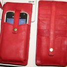 OEM Phone wallet credit card leather pouch case RED