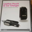 Leather Pouch+Car Charger Blackberry for 8100 8120 8110