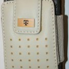 NEW T-Mobile Leather Pouch Case White for Samsung t319