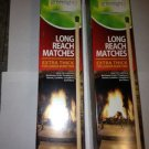 2 New Boxes of Diamond Greenlight Long Reach Matches Box of 75 Extra Thick = 150