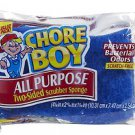 New CHORE BOY All Purpose Two Sided Scrubber Sponge scratch free - 6 sponges