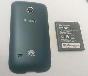 OEM Original Huawei Prism Back Cover Door T-Mobile U8651 - Blue + Battery HB5K1H