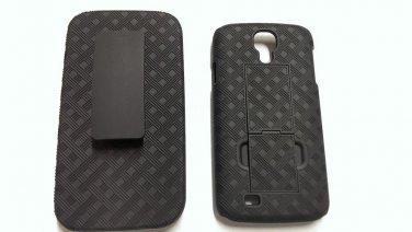 Shell Holster Combo Case Belt Clip Kickstand for Samsung Galaxy S4 i545 - Black