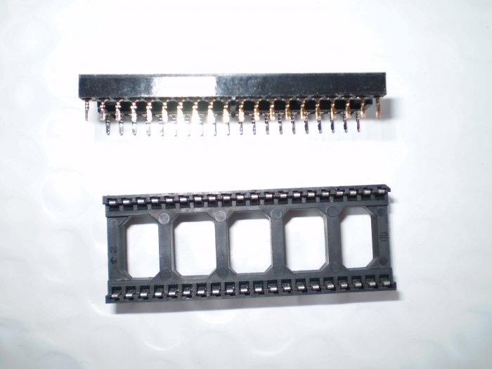 10 pcs 40 pin DIP IC Sockets Adapter Solder Type NEW USA