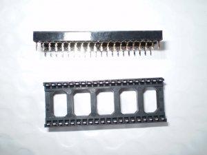 10 pcs 40 pin DIP IC Sockets Adapter Solder Type NEW USA