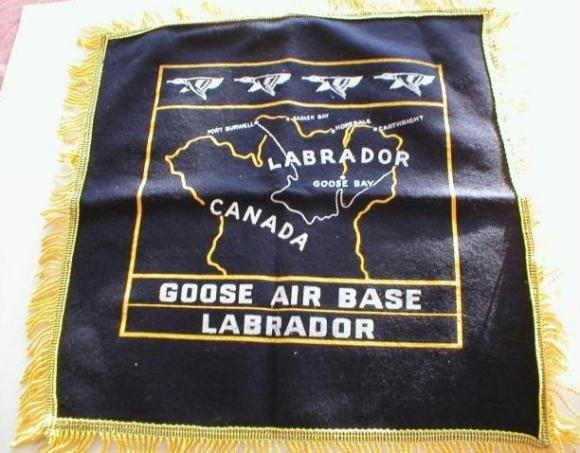 Goose Air Base Labrador Canada Souvenir Dark Blue Pillow Cover