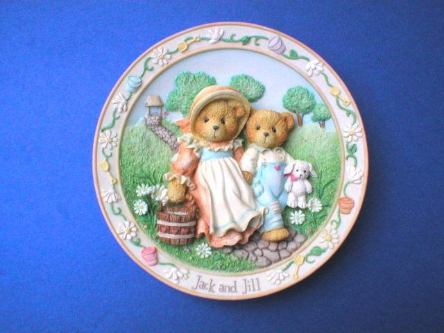 Collector Plates Enesco Jack & Jill Cherished Teddies Nursery Rhyme Collection Plate
