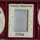 Set of 3 Family Memories 2004 Frames 2 x 3 Porcelain
