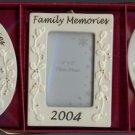 Set of 3 Family Memories 2004 Frames 2 x 3 Porcelain