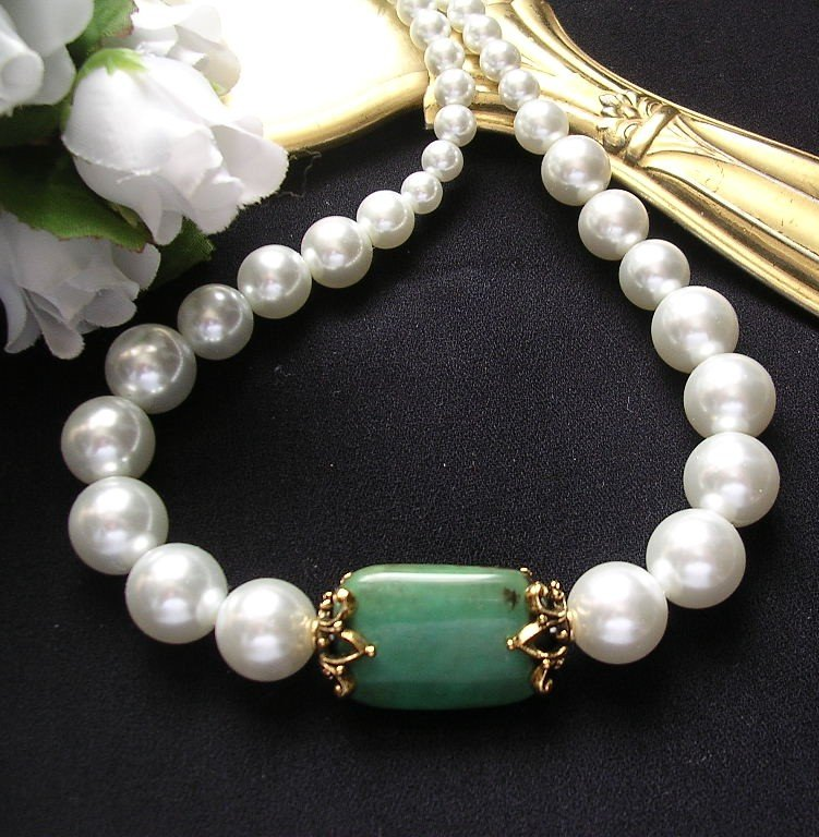 Turquoise and Pearl Choker Necklace