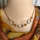Art Deco Style Pearl and Rhinestone Necklace