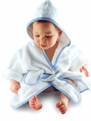 A Luxury Robe with Blue Trim