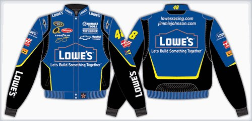 2008 JIMMIE JOHNSON  LOWE'S KIDS COLOR TWILL JACKET