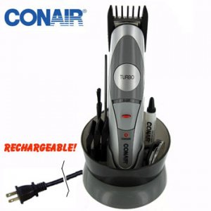 CONAIR® RECHARGEABLE 2-IN-1 BEARD & MUSTACHE TRIMMING SYSTEM
