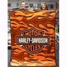 HARLEY DAVIDSON SUPER PLUSH THROW-BLANKET