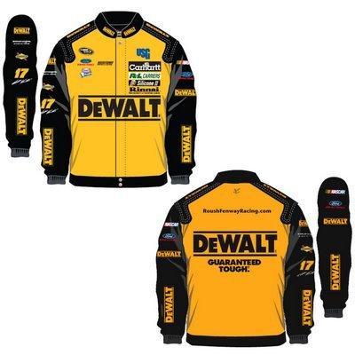 17 Matt Kenseth Mens DeWalt Colored Twill Uniform Jacket