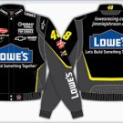 2008 JIMMIE JOHNSON / LOWE'S ADULT BLACK TWILL JACKET