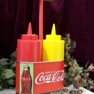Coke Bottle Mustard & Ketchup Caddy