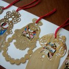"Super Containing Pure Gold Bookmark set--""Beijing opera types of facial makeup in operas"""