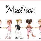 Ballet Pink Girl PERSONALIZED Note Cards Thank You