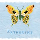 Butterfly Butterflies Blue PERSONALIZED Note Cards Gift