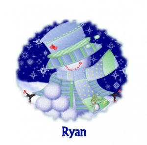 Christmas Cards Snowman Boy  PERSONALIZED
