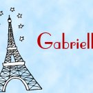 Eiffel Paris France French PERSONALIZED Note Cards