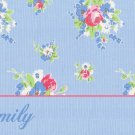 French Country Floral Denim PERSONALIZED Note Cards