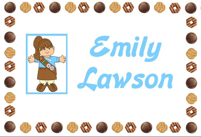 Girl Scout Cookies Brownie PERSONALIZED Note Cards