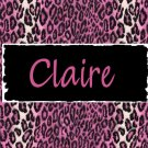 Leopard Animal Print Pink PERSONALIZED Note Cards