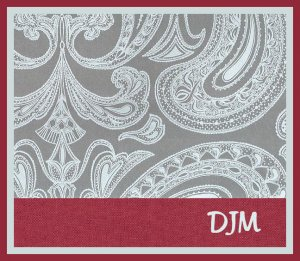 Paisley Gray Burgundy Men PERSONALIZED Note Cards