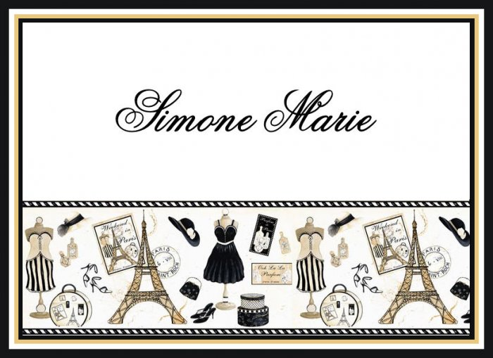 Paris France Eiffel Dress Shoe PERSONALIZED Note Cards
