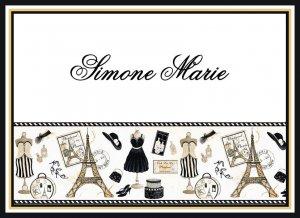 Paris France Eiffel Dress Shoe PERSONALIZED Note Cards