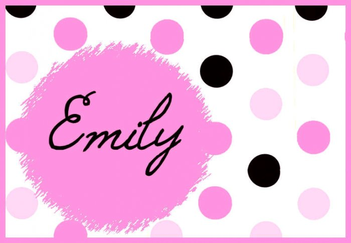 Pink Black White Dots PERSONALIZED Note Cards
