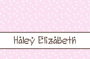Stars Pink Brown Personalized Notecards Note Cards